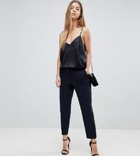 ASOS   Зауженные брюки под смокинг ASOS PETITE Premium - Темно-синий   Clouty