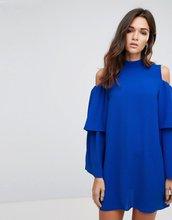 Ax Paris   Платье с оборками на рукавах AX Paris - Синий   Clouty