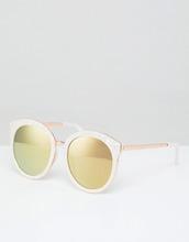 ASOS | Круглые солнцезащитные oversize-очки в стиле преппи с зеркальными стек | Clouty