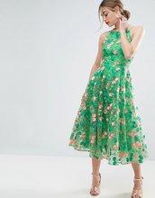 ASOS | Платье миди для выпускного с цветочной вышивкой и открытой спиной ASOS | Clouty