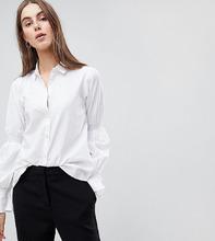 Y.A.S. | Рубашка с отделкой на рукавах Y.A.S Tall - Белый | Clouty