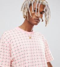 VANS | Розовая футболка с шахматным узором Vans эксклюзивно на ASOS - Розовый | Clouty