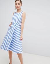 Closet London | Платье миди для выпускного в полоску Closet London - Синий | Clouty