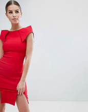 Vesper | Платье-футляр со структурированными плечами и двумя разрезами Vesper | Clouty