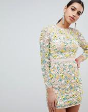 ASOS | Платье мини с длинными рукавами и цветочной 3d отделкой ASOS DESIGN | Clouty