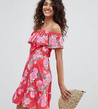 ASOS | Летнее платье с ярусной юбкой и цветочным принтом ASOS DESIGN Tall | Clouty