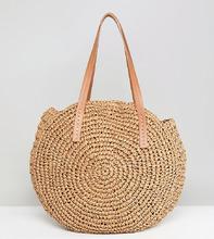 Glamorous | Круглая соломенная сумка Glamorous - Бежевый | Clouty