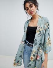 New Look | Кимоно с цветочным принтом New Look - Зеленый | Clouty