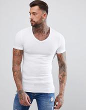 ASOS   Обтягивающая футболка ASOS DESIGN - Белый   Clouty