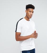 Selected Homme | Футболка с полосой на рукавах реглан Selected Homme TALL - Белый | Clouty