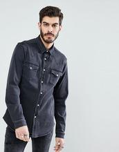 ASOS | Джинсовая рубашка в стиле вестерн из денима плотностью 11 унц ASOS DESIGN - Серый | Clouty