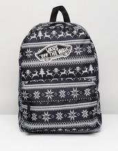 VANS | Черный рюкзак Vans Realm Holiday - Черный | Clouty