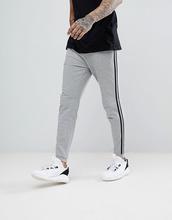 ASOS | Серые меланжевые джоггеры скинни с полосой по бокам ASOS - Серый | Clouty