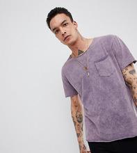 Heart & Dagger | Выбеленная свободная футболка Heart & Dagger - Фиолетовый | Clouty