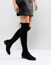 Public Desire | Черные ботфорты на плоской подошве Public Desire Elle - Черный | Clouty