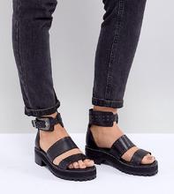 ASOS | Кожаные сандалии-гладиаторы для широкой стопы ASOS DESIGN - Черный | Clouty