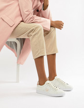 Fred Perry | Кожаные кроссовки с отделкой цвета розового золота Fred Perry B721 | Clouty