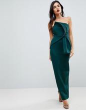 ASOS   Платье-бандо макси с бантом ASOS - Зеленый   Clouty