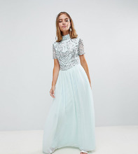 Frock And Frill | Премиум-платье макси с декорированным топом Frock And Frill Petite | Clouty