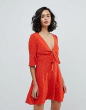 Free People   Платье мини в горошек Free People All Yours - Красный   Clouty