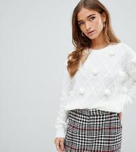 Fashion Union | Джемпер с помпонами Fashion Union petite - Кремовый | Clouty