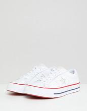CONVERSE | Белые кожаные кроссовки Converse One Star - Мульти | Clouty