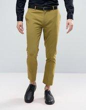ASOS   Светло-зеленые супероблегающие укороченные брюки в строгом стиле ASOS   Clouty