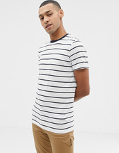 Selected Homme   Футболка в полоску из крашеной ткани Selected Homme - Белый   Clouty