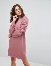 ASOS | Трикотажное платье с присборенными рукавами ASOS - Розовый | Clouty