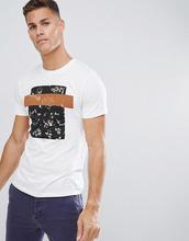Selected Homme | Футболка с цветочным принтом Selected Homme - Белый | Clouty