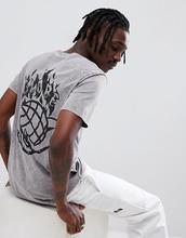 Globe | Черная выбеленная футболка с принтом на спине Globe - Черный | Clouty