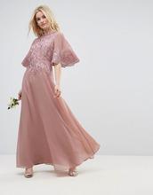 ASOS | Платье макси с расклешенными рукавами и кружевной аппликацией ASOS DES | Clouty