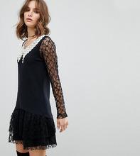 Anna Sui | Эксклюзивное кружевное платье Anna Sui - Черный | Clouty