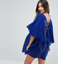 ASOS | Пляжная накидка с отделкой ремешками на спине ASOS DESIGN Maternity - Темно-синий | Clouty