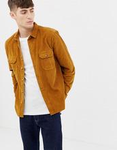ASOS | Вельветовая рубашка горчичного цвета ASOS DESIGN - Желтый | Clouty