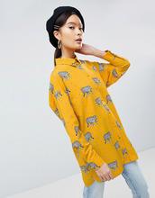 ASOS | Удлиненная рубашка с леопардовым принтом ASOS DESIGN - Мульти | Clouty