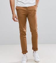 ASOS   Узкие брюки чинос цвета кэмел ASOS TALL - Коричневый   Clouty