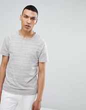 Selected Homme | Футболка в меланжевую полоску Selected Homme - Серый | Clouty