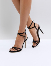 Call It Spring | Легкие босоножки на каблуке с ремешками Call It Spring - Черный | Clouty
