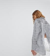 Reclaimed Vintage   Oversize-рубашка с принтом и разрезом на спине Reclaimed Vintage Inspi   Clouty