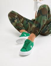 CONVERSE | Зеленые кроссовки с вышивкой Converse - Зеленый | Clouty