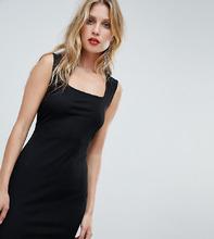 Boohoo | Платье мини без рукавов с квадратным вырезом Boohoo - Черный | Clouty