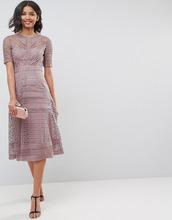 ASOS | Кружевное платье миди ASOS PREMIUM Occasion - Темно-синий | Clouty