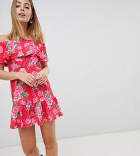 ASOS | Сарафан с открытыми плечами и цветочным принтом ASOS DESIGN Petite | Clouty