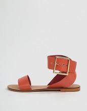 ASOS | Кожаные сандалии ASOS DESIGN Farah - Оранжевый | Clouty