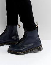 Dr. Martens | Ботинки с 8 парами люверсов Dr.Martens 1460 - Темно-синий | Clouty