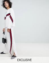 Evidnt   Спортивные штаны с разрезами по бокам и полосой из ленты EVIDNT   Clouty