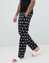 ASOS | Пижамные штаны в горошек ASOS DESIGN mix & match - Черный | Clouty
