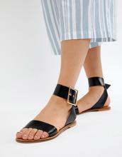 ASOS | Кожаные сандалии ASOS DESIGN Farah - Черный | Clouty