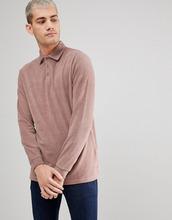 ASOS | Удлиненная футболка-поло из махровой ткани с длинными рукавами ASOS | Clouty